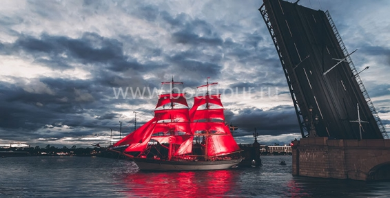 Scarlet Sails Show on behalf «Moscow» hotel