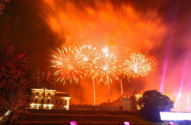 Весенний праздник фонтанов 2020 в Петергофе