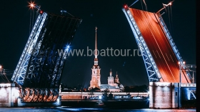 Overnight visit and excursion to the closed Peter and Paul Fortress and drawbridges boat tour
